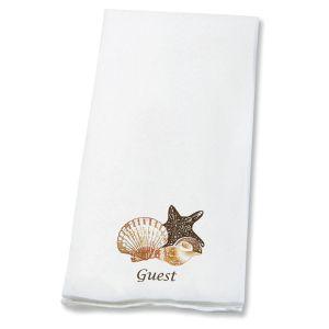 Seashells Disposable Hand Towels