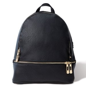 Black Zip-Around Backpack