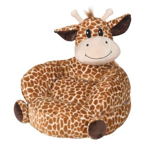 Children's Giraffe Plush Character Chair