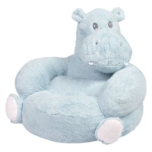Children's Hippo Plush Character Chair