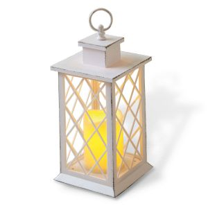White LED Lantern with Cross Window