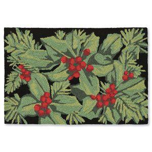 Hollyberries Black Doormats