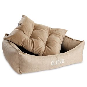 Medium Scoop Flax Dog Bed by Bowsers Pet Products