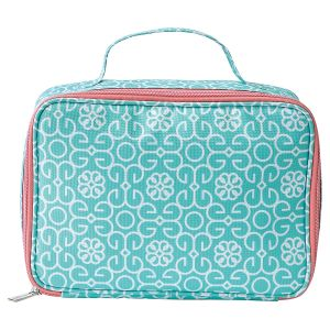 Mint Damask Lunch Bag