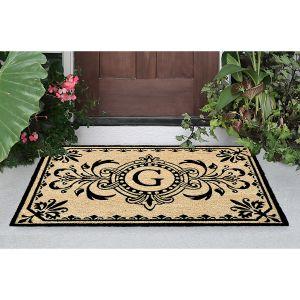 Dwell Coir Initial 24x36 Doormat
