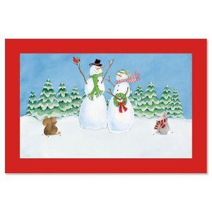 Snowfamily Doormat