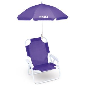 Lavender Child-Size Umbrella Beach Chair