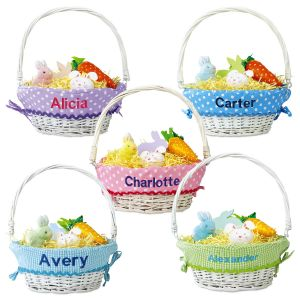 Easter Baskets with Personalized Liners