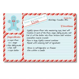 Santa Holiday Recipe Cards by Designer Maureen Anders