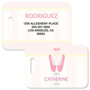 Ballerina Luggage Tag by Designer Maureen Anders