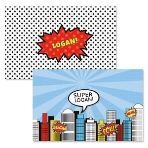 Super Heroes Personalized Placemat by Designer Maureen Anders