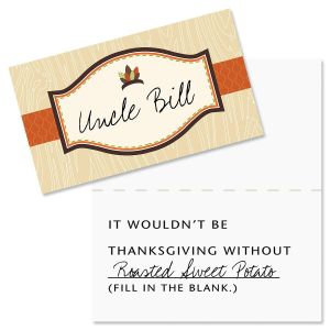 Thanksgiving Conversation Placecards by Maureen Anders