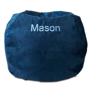 Navy Personalized Bean Bag Chair