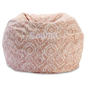 Personalized Blush Bean Bag Chair