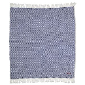 Personalized Dark Blue Herringbone Throw