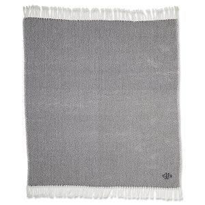 Personalized Grey Herringbone Throw