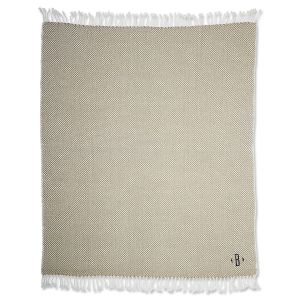 Personalized Taupe Herringbone Throw
