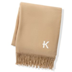 Personalized Camel Two Toned Reversible Throw