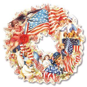 Vintage Americana Diecut Wreath