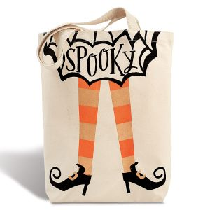 Spooky Halloween Stylish Canvas Tote