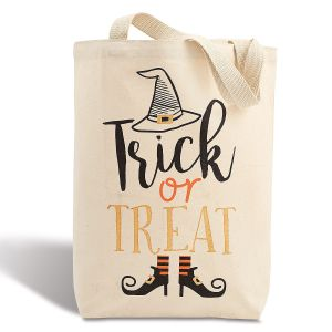 Trick or Treat Halloween Stylish Canvas Tote