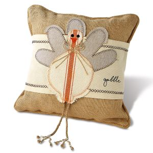 Turkey Wrap & Burlap Pillow