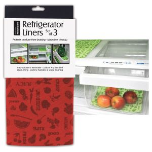 Red Reversible Fridge Shelf Liners