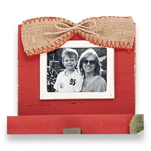 Red Stocking Holder Frame by Mud Pie