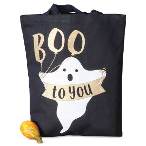 Ghost Canvas Tote Bag