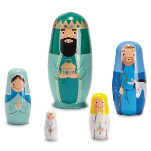 Nesting Nativity Dolls