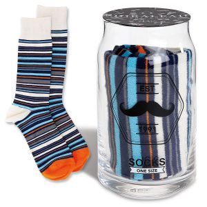 Striped Socks in a Drinking Glass