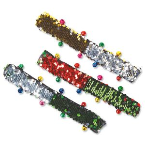 Holiday Sequin Slap Bracelet