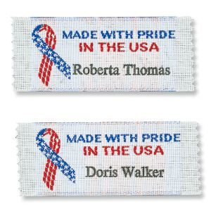 Made With Pride In The USA Sewing Labels