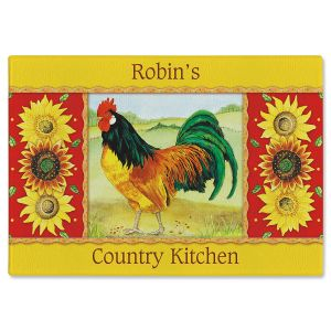 Country Kitchen Personalized Glass Cutting Board