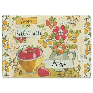From My Kitchen Personalized Glass Cutting Board