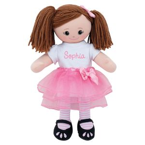 Brunette Ballerina Personalized Doll