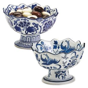 Scalloped Footed Bowls