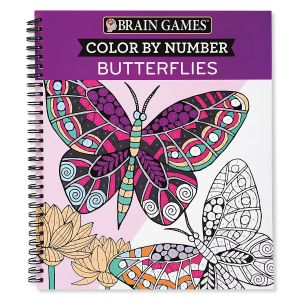 Color By Number Butterflies