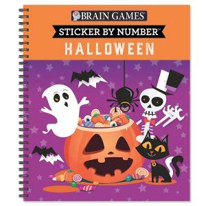 Sticker by Number Halloween Brain Games®