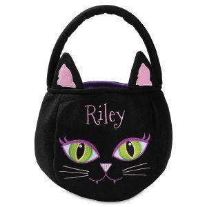 Personalized Black Cat Treat Basket
