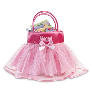 Personalized Tutu Treat Basket Front