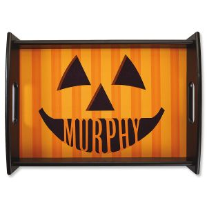 Personalized Jack-O'-Lantern Serving Tray