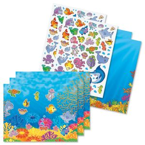 Ocean Adventure Sticker Scene