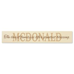 Love of Family Wooden Plaque