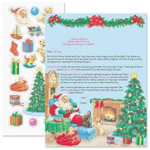 Santa Letter & 19 Stickers