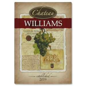 Chateau Personalized Glass Cutting Board