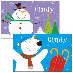 Snowman/Bear Placemat