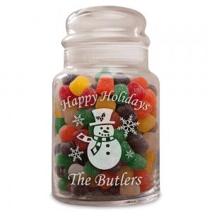 Personalized Snowman Treat Jar