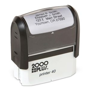 Standard Self-Inking Address Stamp - Black Ink