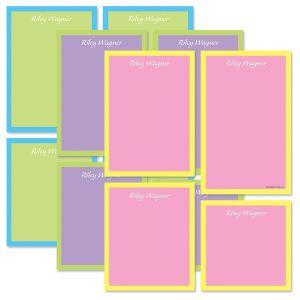 Bordered Hues Notepads